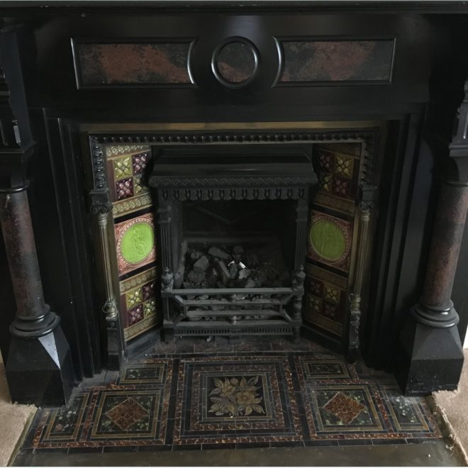 23. Music Room Fireplace 1