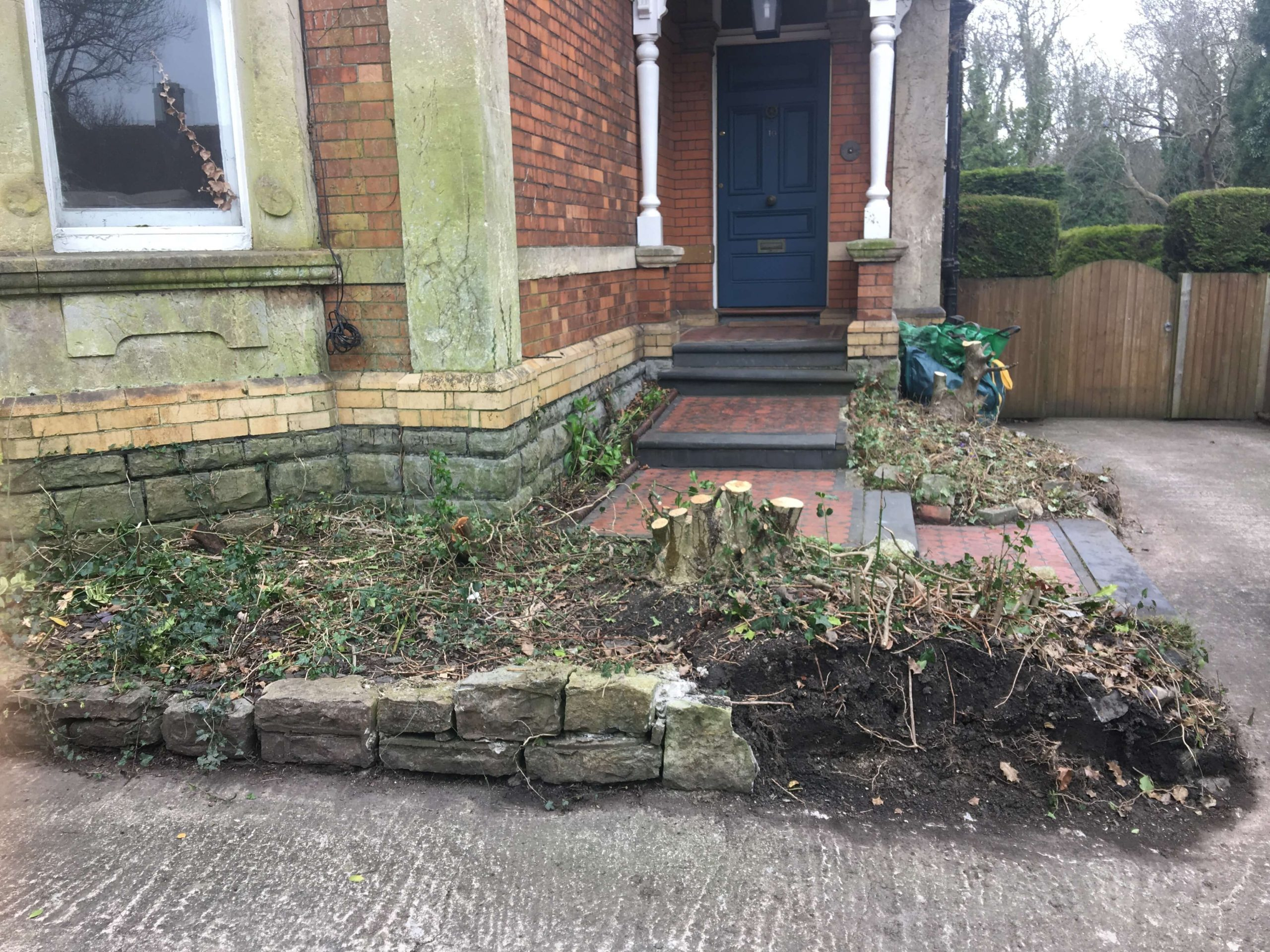 Driveway,Steps and Front door BEFORE