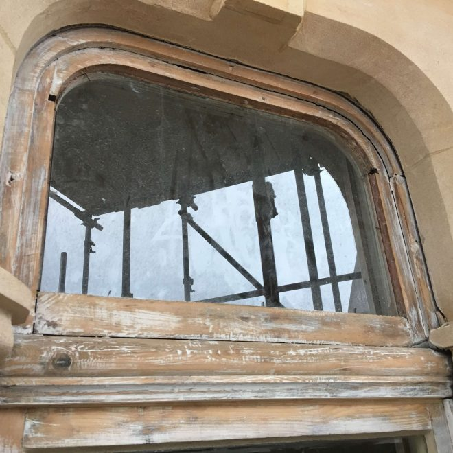 Stained Glass Removed BEFORE